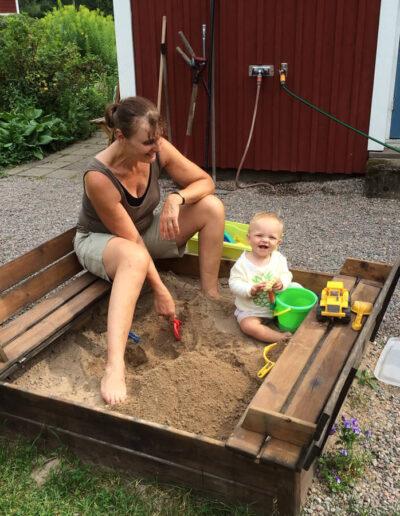 Play in the sandbox.