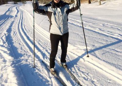 Det finns många fina och välskötta skidspår i Sala under vintersäsongen.