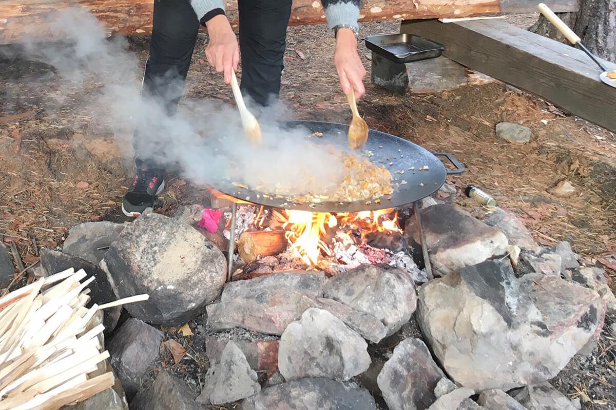Muurikka finns att låna för utomhusmatlagning