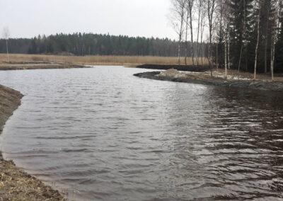 Den nyrestaurerade Dragmansbosjön.